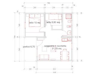 Progetti di case in legno casetta 49 mq portico 7 mq for Progetti di case