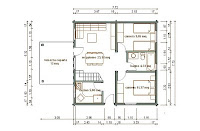 Progetti di case in legno casa 59 mq sottotetto for Case in legno 100 mq