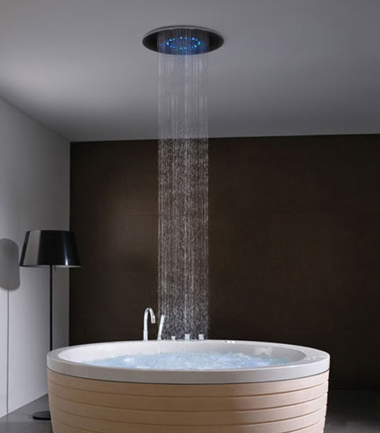 Bathroom Design The Cool Round Shape Jacuzzi By Porcelanosa