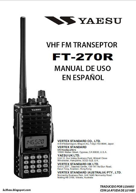 :::LU3HAU::: Radiocomunicaciones...: TRADUCCION DEL MANUAL