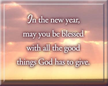 IN HIS NAME  New Year Prayer