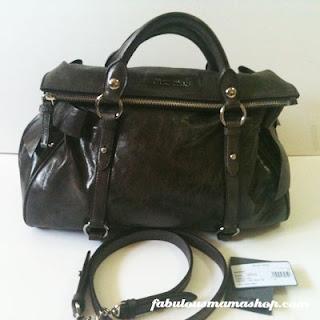 f558ab6ba4fd SOLD Miu Miu Vitello Lux Bow Satchel Bag - Grafite BRAND NEW