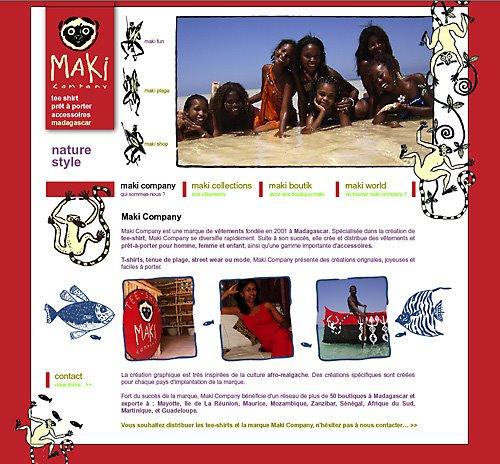 maki company Madagascar, ancien site web