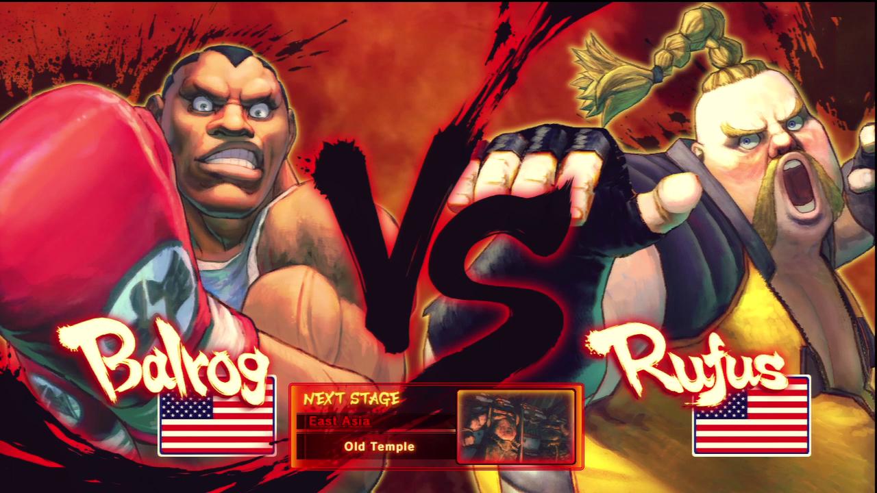 Street Fighter Versus Screen Street Fighter V