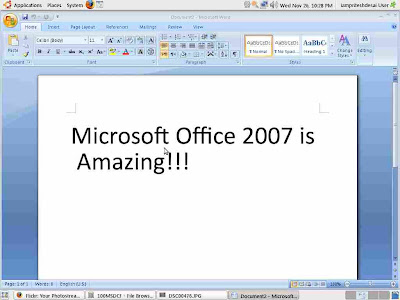 Help For Linux: Install Microsoft Office 2007 in Ubuntu