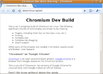 Help For Linux: Install Google Chrome (Chromium) On Ubuntu 9 04