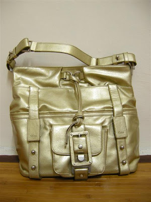 Chloe Gold Shoulder Tote Bag