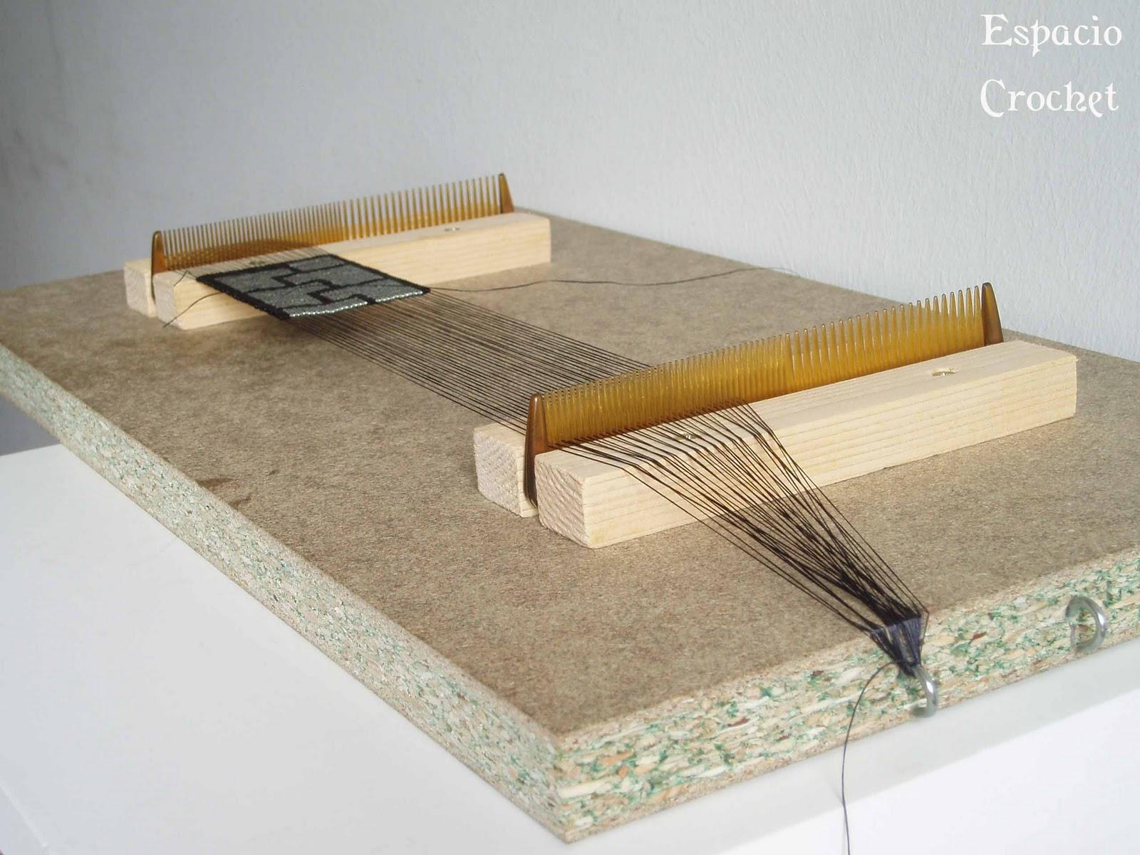0cadf7cd6af1 Telar indio casero / Homemade loom   Espacio Crochet