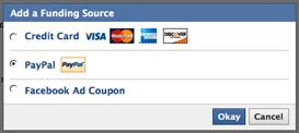 Paypal on Facebook