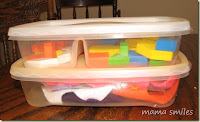 Use and toss toy storage