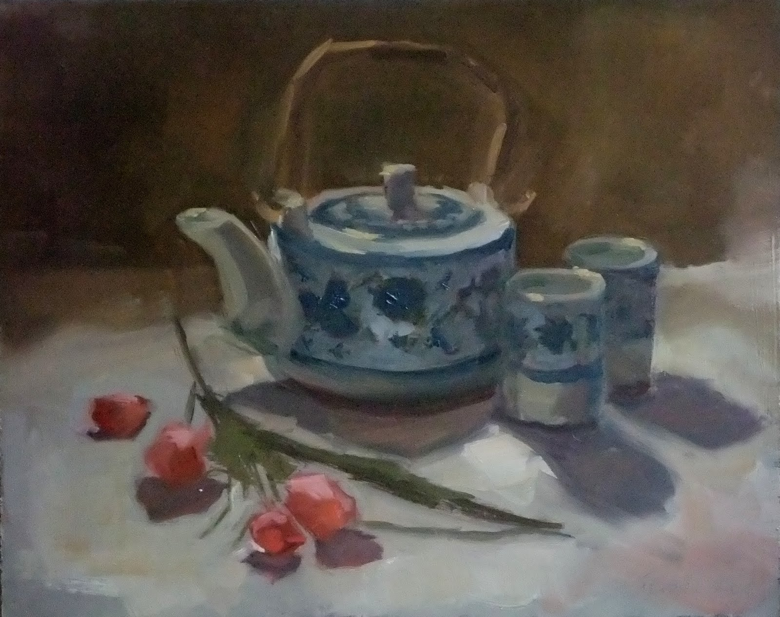 Lost Coast Daily Painters: Chinese Teapot by Frances Kuta