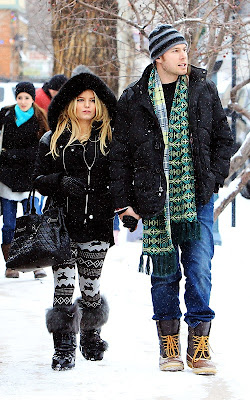 Jessica Simpson and new fiance Eric Johnson strolling the streets of Aspen, Colorado