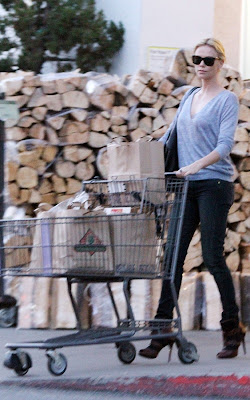 Charlize Theron out shopping at Bristol Farms in West Hollywood