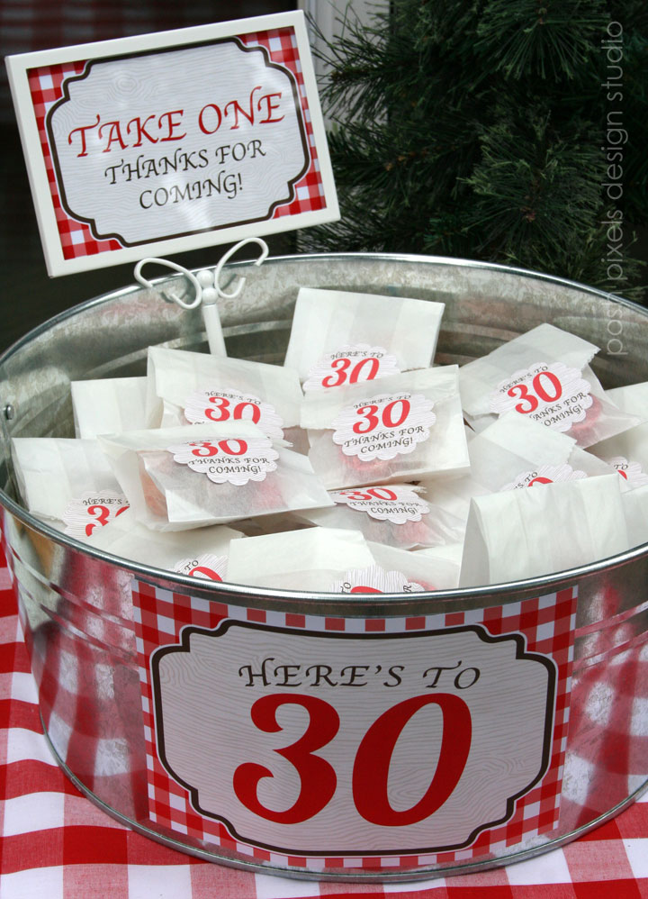 CAKE Creative Co real parties a rustic red 30th birthday