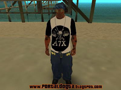 Avenged Sevenfold T-Shirt roupas gta san andreas