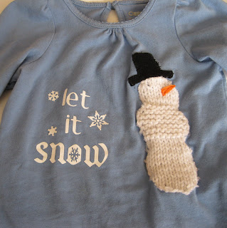 299f194e Christmas gift present for kids: snow tee tutorial, free knitting patterns