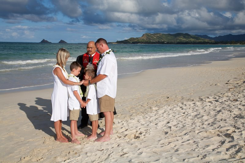 Beach Wedding Ceremony Oahu: AinaKai Photography: Hawaii Wedding & Lifestyle