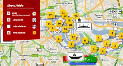 London Points Of Interest Map.Maps Mania Boston London Marathons In Street View