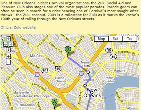 new orleans parade routes map Maps Mania Mardi Gras Parade Routes new orleans parade routes map