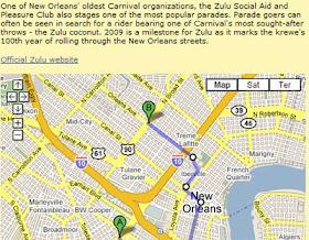 Maps Mania Mardi Gras Parade Routes