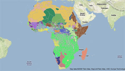 Harvards Africa Map, sample image, via Google Maps Mania