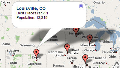 Maps Mania: Google Map of the Best Places to Live