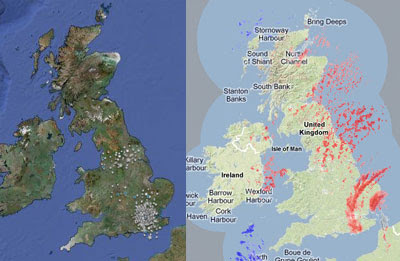 Maps Mania  UK Real Time Weather on Google Maps Thanks to this Google Maps mashup I can see that this is also true for most  of eastern England