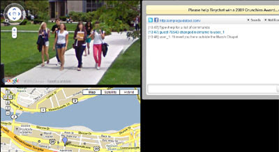 Maps Mania: Live Video Chat on Google Maps on google map from to, google earth live, earth maps live, google live street view, google us map, google gps live, view satellite local live, google atlas map, world maps live, google world map, google satellite live, google search, google sky live, google united states map, google moon live, bing maps live, google manhattan map, msn maps live, google earth street view, google weather map,