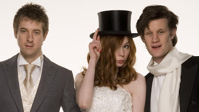 Amy and Rory's wedding photo, with the Doctor (bbc.co.uk)