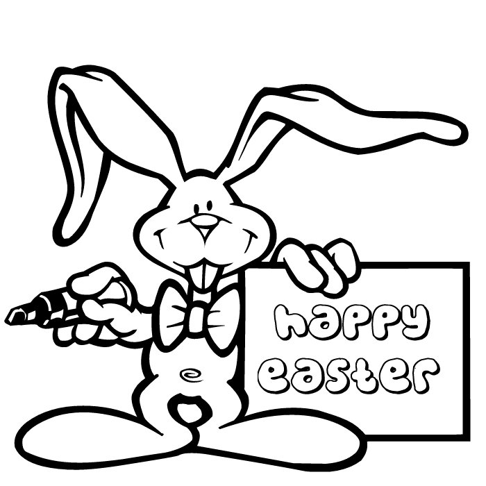 Interactive Magazine: Easter Bunny Coloring Pages, Easter ...