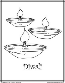 Diwali Coloring Pages: Diwali Online Coloring Pages