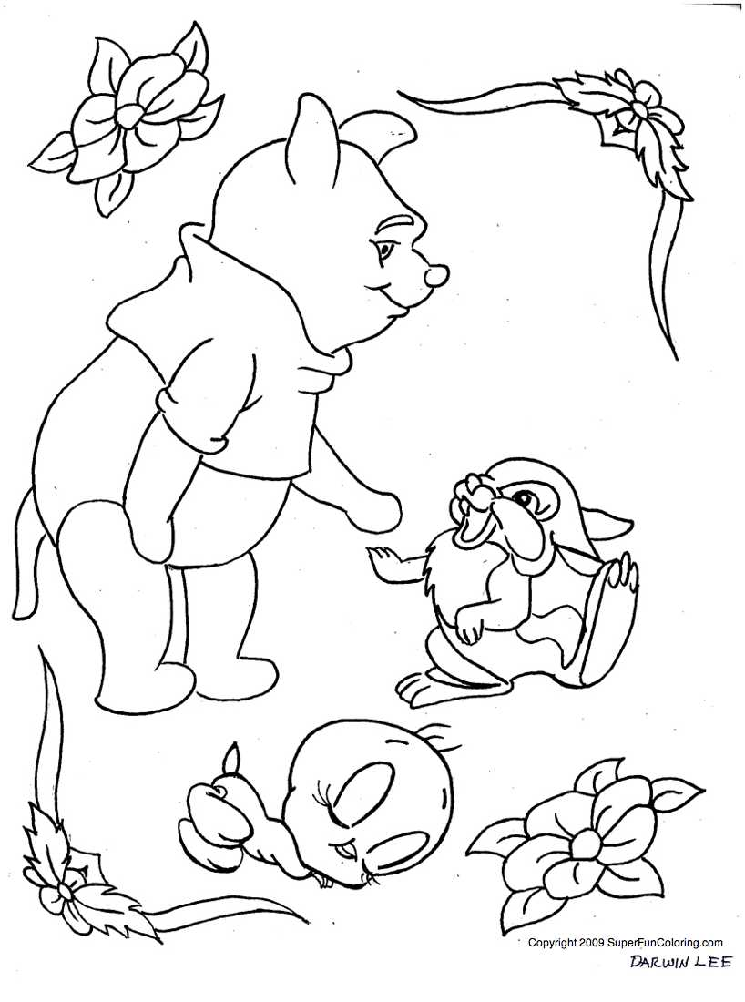 Easter Coloring Pages: Winnie The Pooh Easter Coloring Pages