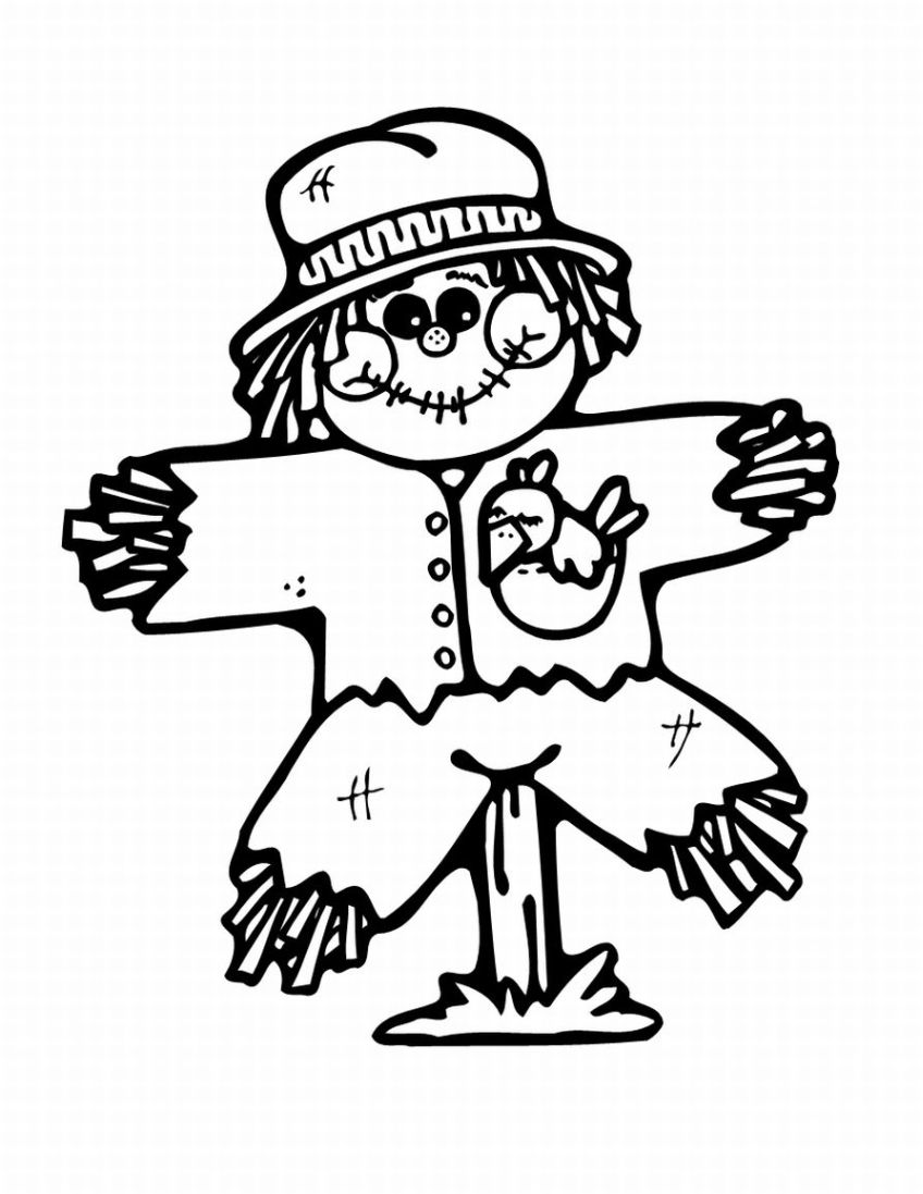 Thanksgiving Coloring Pages: Thanksgiving Scarecrow ...