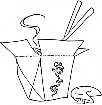 Chinese New Year Coloring Pages: Chinese Food Coloring ...