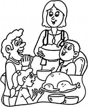 Thanksgiving scarecrow coloring page for Dinner coloring pages