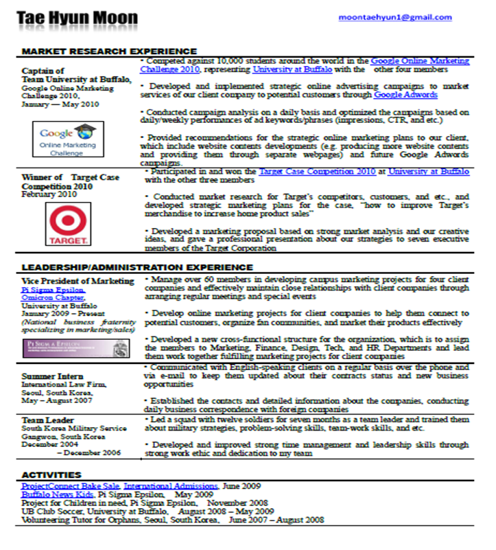 New Type Of Resumes. example format curriculum vitae. curriculum ...