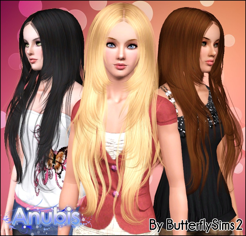 Sims 2 Hairstyles: Sims Stuff: Butterfly Sims2 Hair 018