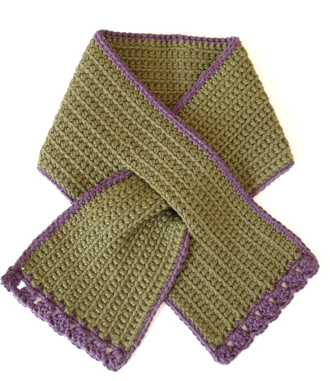 MICROCKNIT CREATIONS: TODDLER Keyhole Scarf