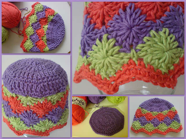 crochet baby hats, how to crochet, crochet patterns, catherine wheel, harlequin stitch, hats,