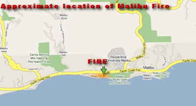 Map Of California Malibu.Cfn California Fire News Cal Fire News Update Google Map Of