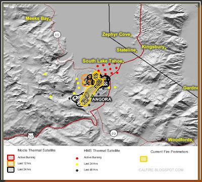 Cfn California Fire News Cal Fire News Angora Fire Updated