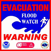 Flash Flood Watch Warning Sign/Logo