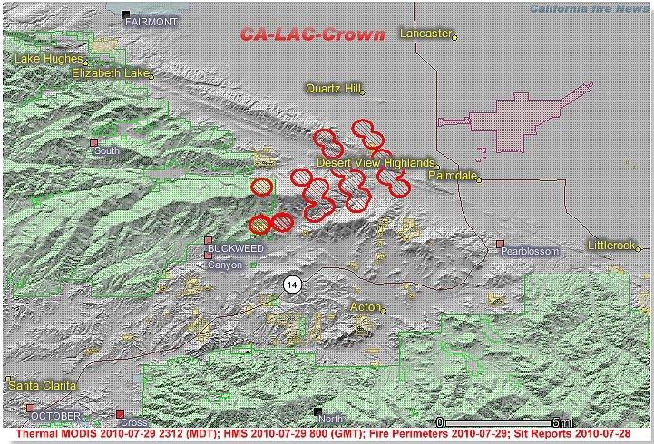 Agua Dulce California Map.Cfn California Fire News Cal Fire News Ca Lac Crown Ic Agua