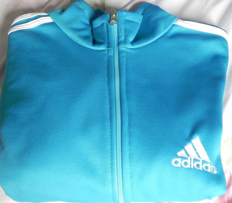 baf4ef01ca2 Brechó Online  )  Blusa de Frio Adidas Azul (P)