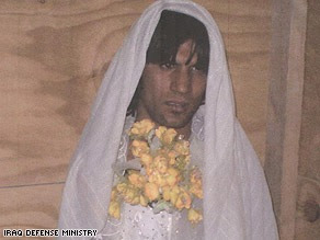 Photo Credit: http://www.shaneclapper.com/2007/11/27/one-ugly-bride-iraqi-soldiers-stop-insurgents-dressed-as-bride-and-groom/