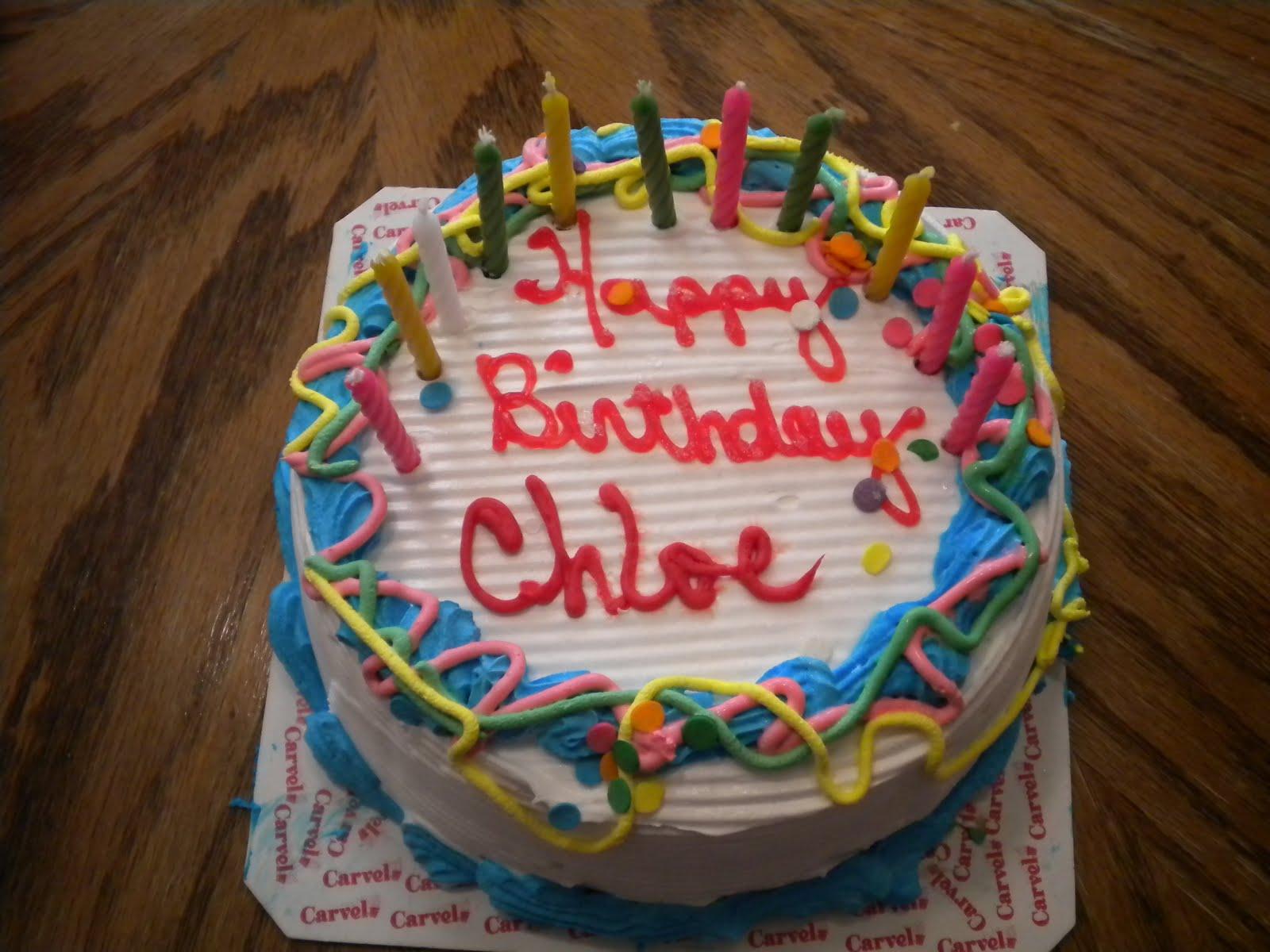 Happy Birthday Chloe Cake
