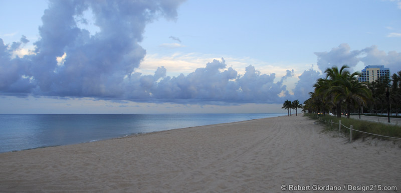 Fort Lauderdale beach at dusk