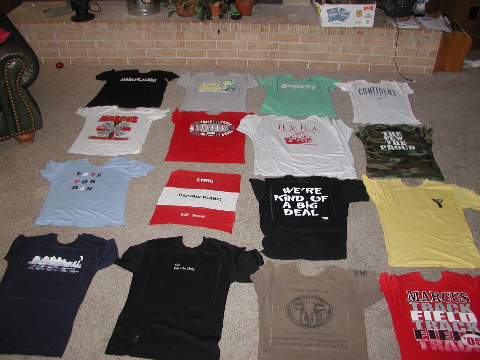 Quilty Pleasures: Rag style t-shirt quilt tutorial