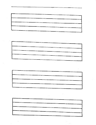 blank manuscript paper with 8 treble clef staves large staff paper