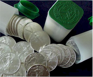 Us Mint Silver Eagle Coin Tubes American Eagle Silver Dollar